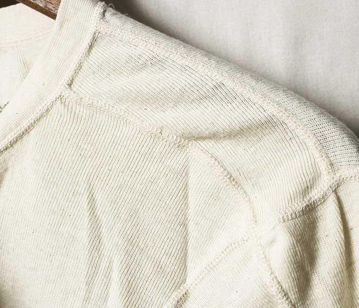 デッドストック DEADSTOCK 米軍 ウール ロンT ヘンリーネック UNDERSHIRT COLD WEATHER IRREGULAR アメリカ製 (USARMY-WOOL-HENLEY-LONGT)