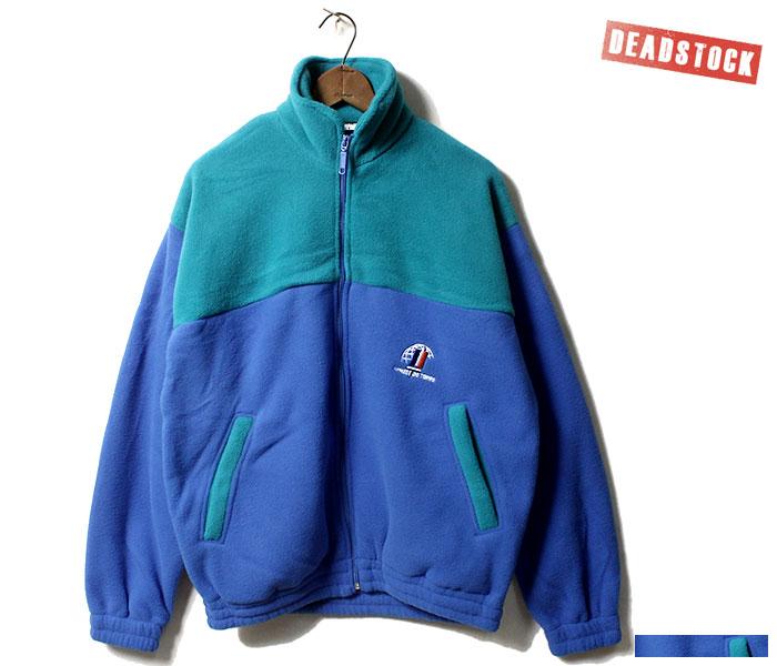 デッドストック DEADSTOCK フレンチミリタリー フリースジャケット ブルー/グリーン ARMEE DE TERRE フランス軍 2000年代 (FRENCH-MIL-FLEECE-BLUGRN)