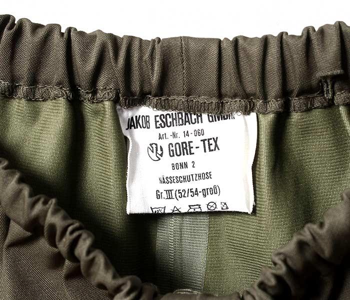 [送料無料]ユーズド/USED ドイツ軍 ゴアテックスパンツ 1980年代 GERMANY ARMY GORE-TEX PANTS 1980s (GERMAN-GORETEX-PT2-5254)