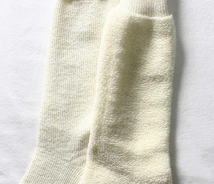 BRITISH ARMY イギリス軍 ホワイト ウールソックス ブーツソックス 靴下 (UK-SOCKS-ECW-UNDYED-WHITE)