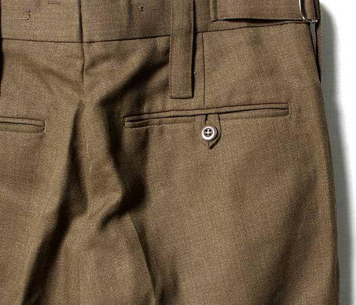 デッドストック DEADSTOCK イギリス軍 ウール ドレスパンツ トラウザーズ ブラウン (UK-NO2-DRESS-TROUSERS)