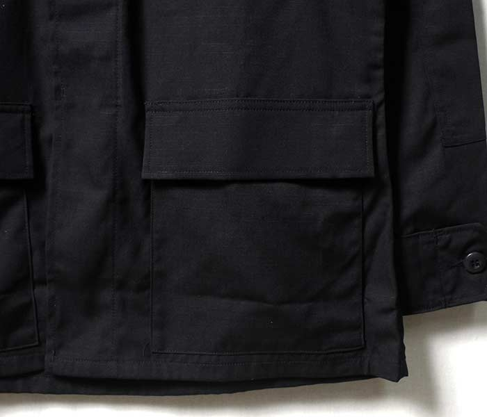 [送料無料]デッドストック/DEADSTOCK 米軍 ブラック 1997年製 357 BDU コンバットジャケット リップストップ US MILITARY BLACK 357 BDU アメリカ製 (BDU-RIP-BLACK)