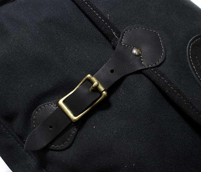 フロストリバー FROST RIVER アメリカ製 ショルダーバッグ ''ラージ'' ブラック ワックスドコットン シェルバッグ (FR-562N-BLK-LAG)