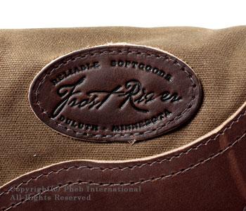 フロストリバー/FROST RIVER アメリカ製ワックスドコットンミディアムプレミアムシェルバッグ(ショルダーバッグ) 【FR-565】[送料無料]