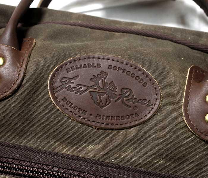 フロストリバー FROST RIVER アメリカ製 カーティスフライトバッグ ミディアム ワックスドコットン バッグ (FR-655)