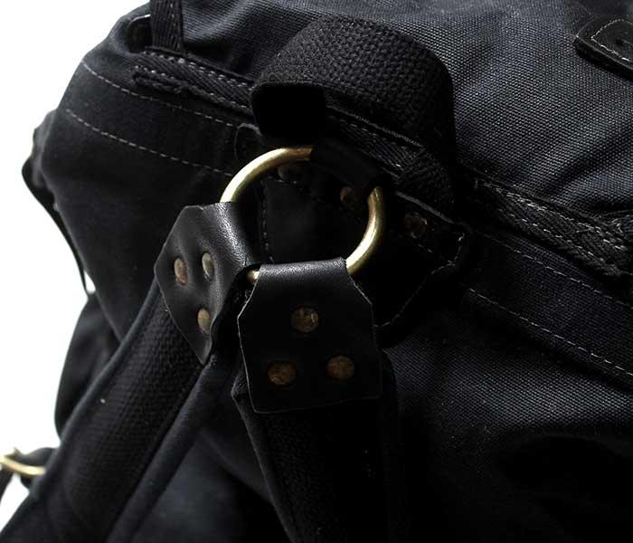 フロストリバー FROST RIVER アメリカ製 バックパック ''サミット エクスペディション パック'' ワックスキャンバス バッグ (FR-825N-BLK)