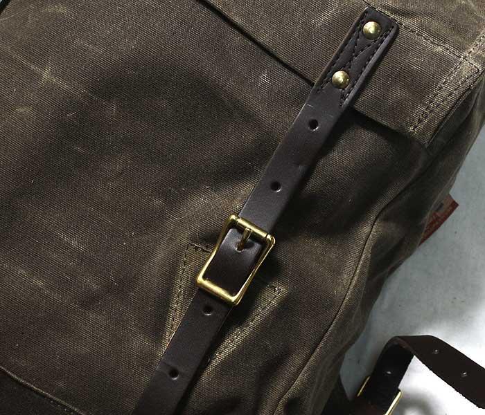 フロストリバー FROST RIVER アメリカ製 バックパック ''スタンダード ブックパック'' ワックスキャンバス バッグ (FR-841)