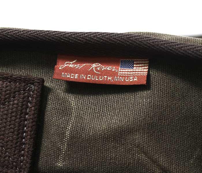 フロストリバー FROST RIVER アメリカ製 ショルダーバッグ ''プレミアム キャリア ブリーフ メッセンジャーバッグ'' ワックスドコットン バッグ (FR-898)