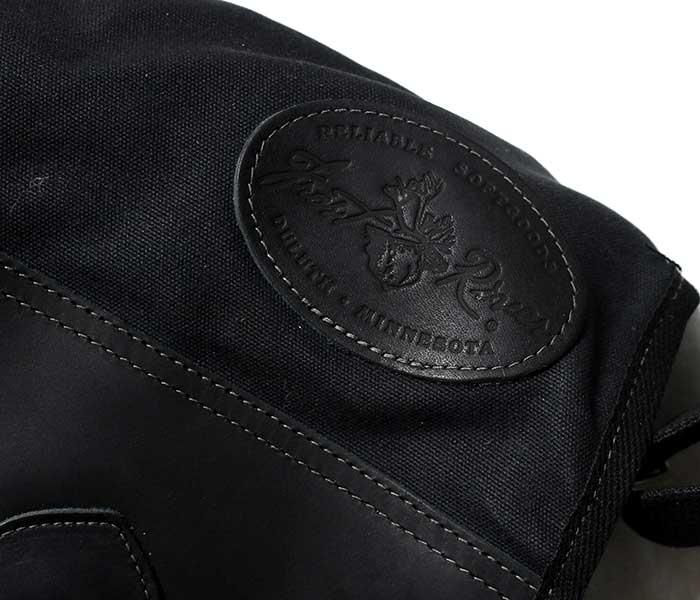 フロストリバー FROST RIVER アメリカ製 ショルダーバッグ ''プレミアム キャリア ブリーフ メッセンジャーバッグ'' ブラック ワックスドコットン バッグ (FR-898N-BLK)
