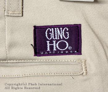 ガンホー/GUNG HO アメリカ製チノパンツ【GUNG-CHINO PANTS】