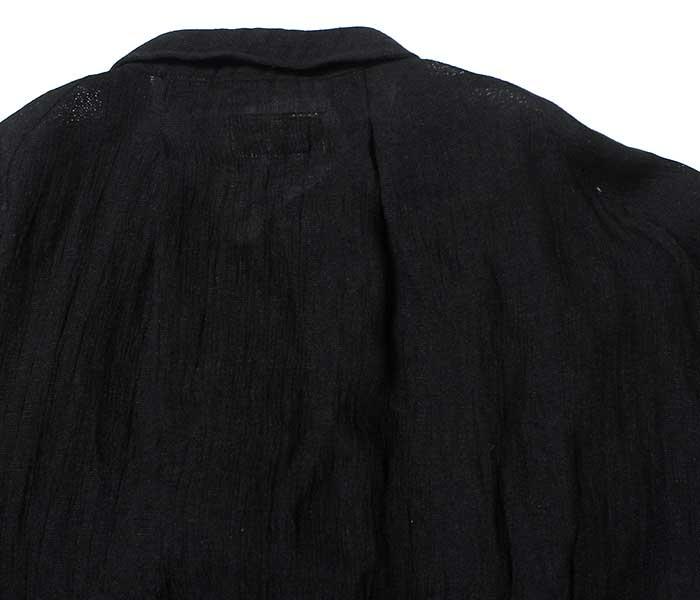 マイヌ/MAINU 日本製 エマージェンシー シャツ ブラック パナマリネン Black Panama linen Emergency Shirts (MAINU-121901-WHT)
