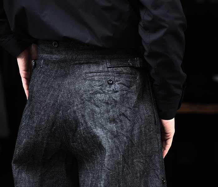 マイヌ MAINU 日本製 ブラックデニム ボンベイブルマー パンツ Black Denim Bombay Bloomers (MAINU-151905)