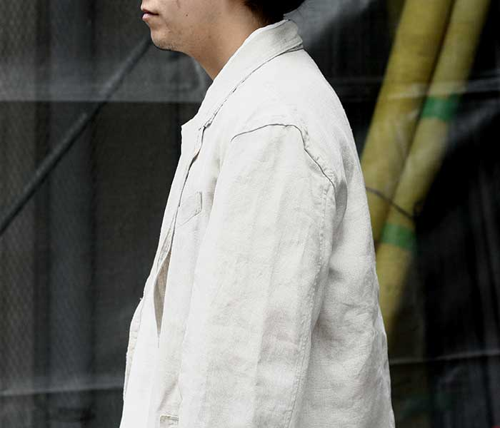 マイヌ MAINU ナチュラル リネン アンラインド ジャケット 2019SS Linen Unlined Jacket MADE IN JAPAN (MAINU-161902-BEG)