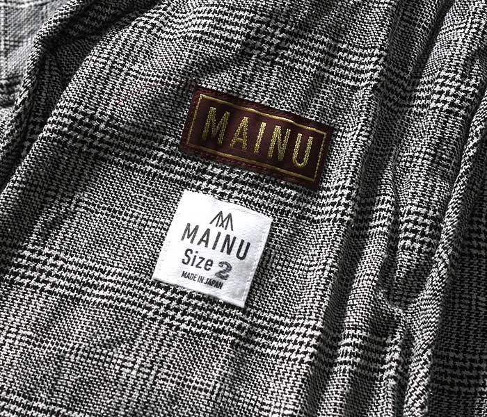 マイヌ MAINU 日本製 エマージェンシー M-65 ブルゾン グレンチェック シルク/リネン 2019SS S/L Emergency M-65 Blouson (MAINU-161904)