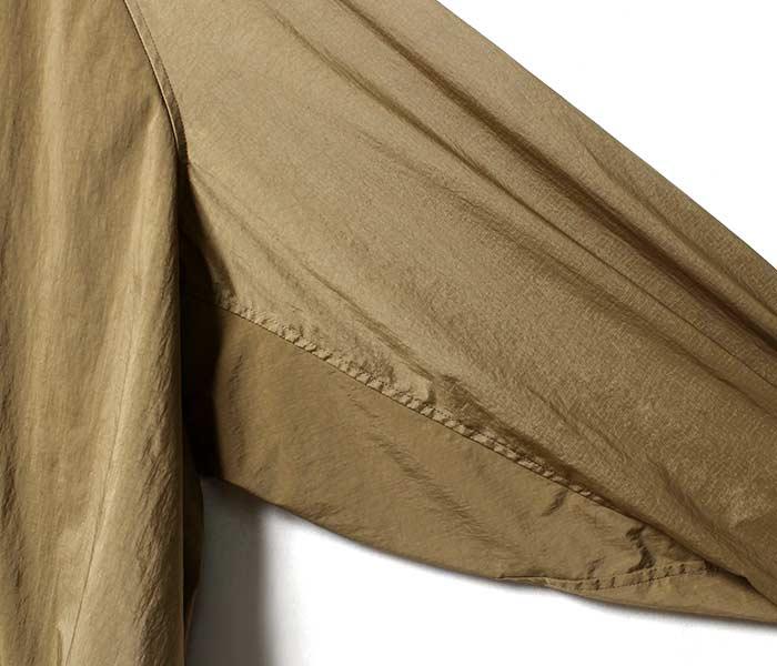 [送料無料]マイヌ/MAINU 日本製 ナイロンエマージェンシーシャツ ノーカラー Nylon Emergency Shirts (MAINU-321801)
