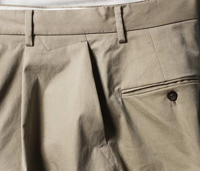 [送料無料]マイヌ/MAINU 日本製 サイドダーツポケット ワイドパンツ c/p Side Dirts Pocket Wide Pants (MAINU-51805)