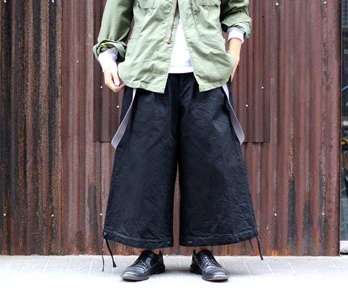 [送料無料]マイヌ/MAINU 日本製 ブラックデニム ボンベイブルマー Denim Bombay Bloomers (MAINU-351801)