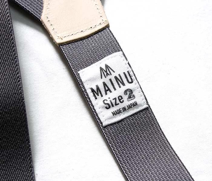 マイヌ/MAINU 日本製 サスペンダー SUSPENDER (MAINU-881803)