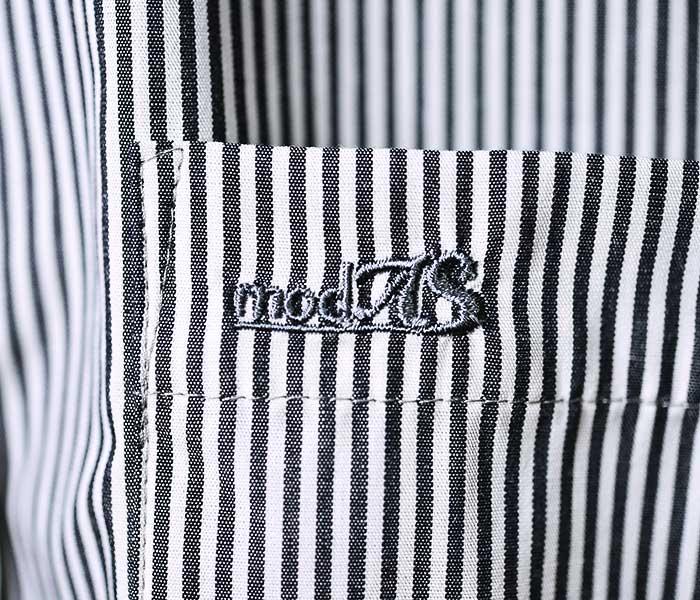 モダス modAS ドイツ製 ボタンダウン シャツ ブロードストライプ 07104 BUTTON DOWN SHIRT (MODAS-07104)