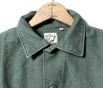 [送料無料]オアスロウ(オアスロー)/orSlow 日本製 ''グリーンユーズド''U.S.ARMY アーミーミリタリーシャツ(01-8045-216)