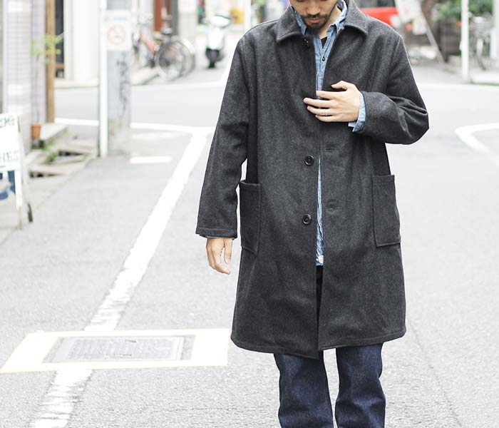 [送料無料]オアスロウ(オアスロー)/orSlow 日本製 メルトン プリズナーコート(03-6038)