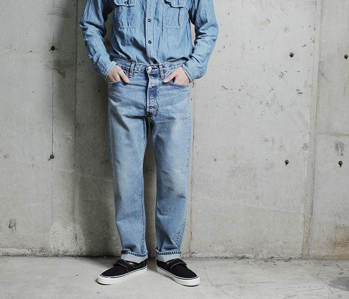 [送料無料]オアスロウ(オアスロー)/orSlow 日本製 ''2 year wash'' 90s スタンダード 5ポケットジーンズ デニム 90s STANDARD DENIM (01-1050W-84)