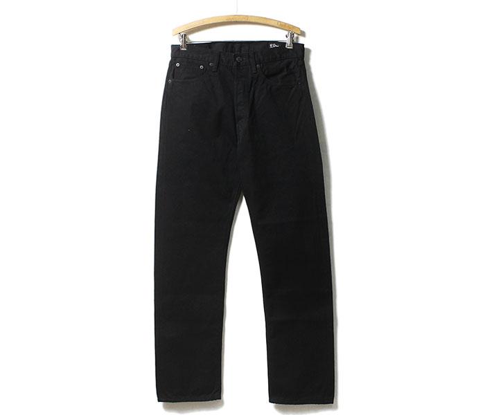 [送料無料]オアスロウ(オアスロー)/orSlow 日本製 ブラック/ブラックデニム オリジナル スタンダード5ポケットジーンズ デニム (01-1050-D61)