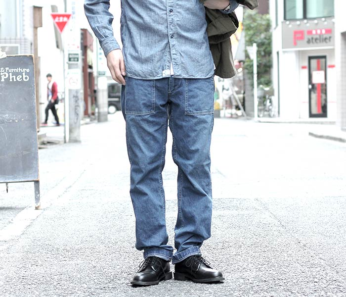 [送料無料]オアスロウ(オアスロー)/orSlow 日本製 2 year wash デニム スリムフィット ファティーグパンツ ベイカーパンツ (01-5032-84)