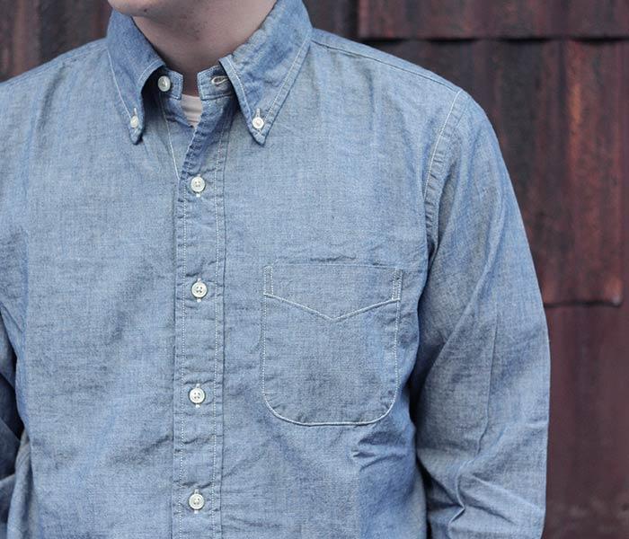 [送料無料]オアスロウ(オアスロー)/orSlow 日本製 ボタンダウンシャツ (01-8012)