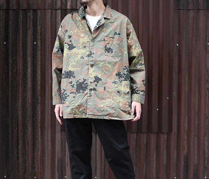 [送料無料]オアスロウ(オアスロー)/orSlow 日本製 ドットカモ パジャマシャツ PAJAMA SHIRT ビッグシャツ ジャーマンカモ 迷彩柄 メンズ (01-8061-GC)