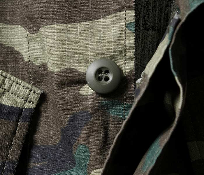 [送料無料]オアスロウ(オアスロー)/orSlow 日本製 ''ウッドランドカモ'' U.S.ARMY RIP ミリタリージャケット ジャングルファティーグジャケット ミリタリー 迷彩柄 メンズ (03-6010RIP-WLC)