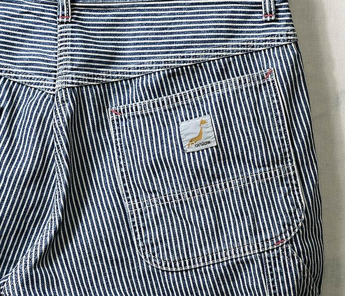 [送料無料]オアスロウ(オアスロー)/orSlow 日本製 ヒッコリー ペインターショーツ ショートパンツ PAINTER SHORTS (03-7127-184)