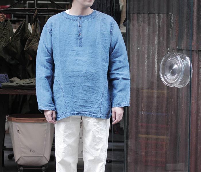 [送料無料]オアスロウ(オアスロー)/orSlow 日本製 ''インディゴ'' ユニセックス プルオーバーシャツ (03-8044-01)