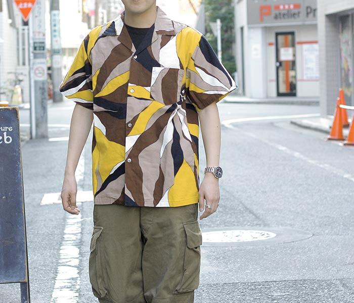 [送料無料]オアスロウ(オアスロー)/orSlow 日本製 プリント アロハシャツ ハワイアンシャツ (03-8056-P46)