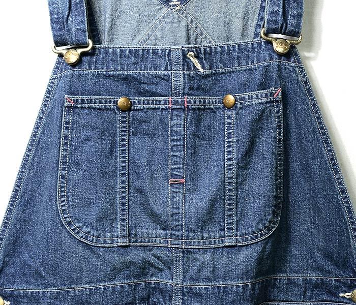 [送料無料]オアスロウ(オアスロー)/orSlow 日本製 2 year wash デニム オーバーオール 50年代モデル (03-9002-84)