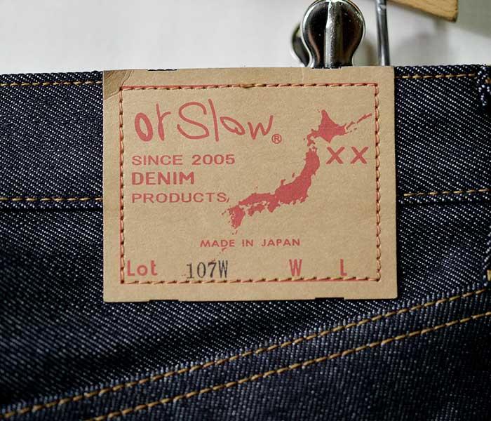 orSlow オアスロウ 日本製 ''NEW'' RIGID デニム アイビーフィット スリムフィット ジーンズ (01-0107W-80)