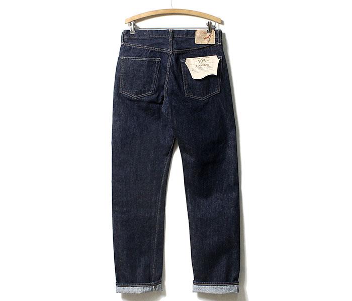 orSlow オアスロウ 日本製 one wash デニム 105 オリジナル スタンダード フィット 5ポケット ジーンズ (01-1050-81)