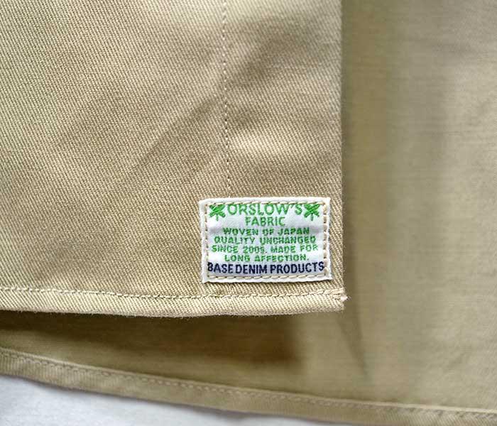 orSlow オアスロウ 日本製 ボタンダウンシャツ チノツイル ノンウォッシュ 2019SS BUTTON DOWN SHIRTS (01-8012-40)