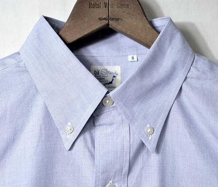 orSlow オアスロウ サックスシャンブレー 半袖 ボタンダウンシャツ 2019SS SHORT SLEEVED B.D. SHIRT MADE IN JAPAN 01-8022 (01-8022-07)