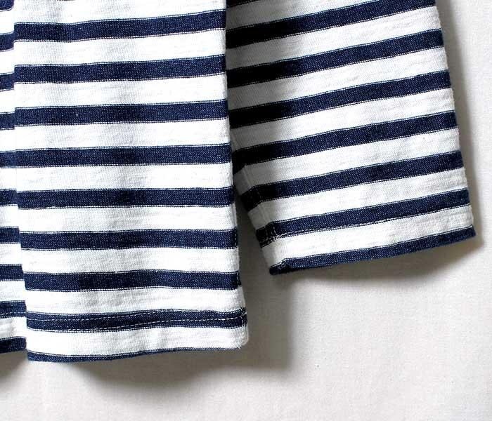 orSlow オアスロウ インディゴボーダー ロンT ボートネック INDIGO BOAT NECK CUT & SAWN MADE IN JAPAN (03-0011-101)
