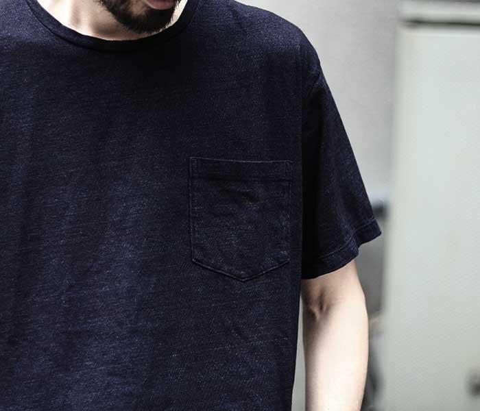 orSlow オアスロウ インディゴ Tシャツ ポケT INDIGO T-SHIRTS MADE IN JAPAN (03-0014-01)