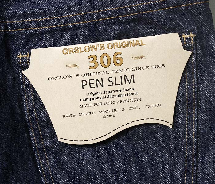orSlow オアスロウ 日本製 セルビッジ デニム PEN SLIM DENIM ペンスリム スリムフィットパンツ (03-3060-81)