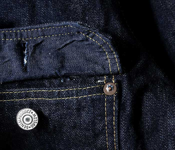orSlow オアスロウ 日本製 ''1st type'' ジージャン ワンウォッシュ デニムジャケット プリーツフロントブラウス ファースト (03-6011-81)