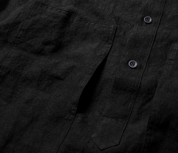 orSlow オアスロウ 日本製 ブラックリネン U.S.ARMY プルオーバー シャツジャケット 2019SS PW PULLOVER SHIRT JK UNSEX 03-8041 (03-8041-61)