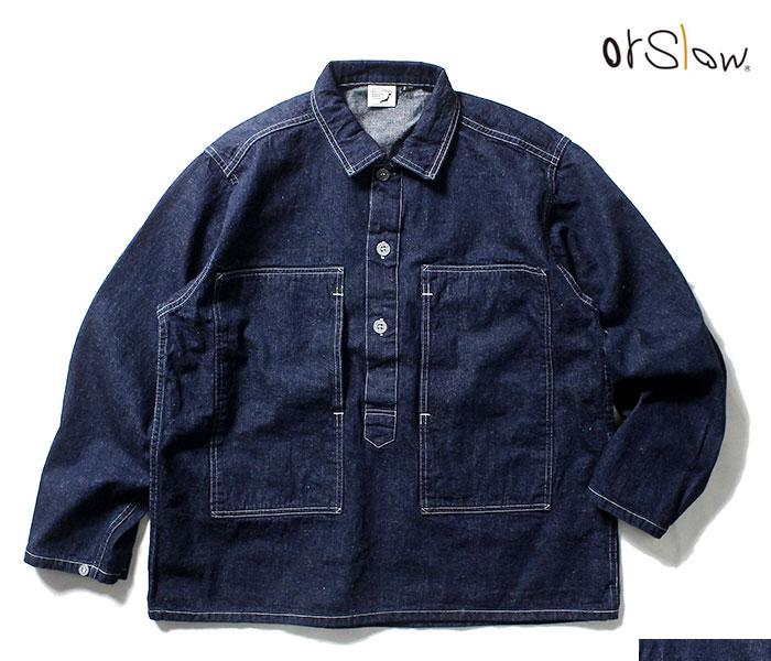 orSlow オアスロウ 日本製 デニム U.S.ARMY プルオーバー シャツジャケット 2019SS PW PULLOVER SHIRT JK UNSEX 03-8041 (03-8041-81)