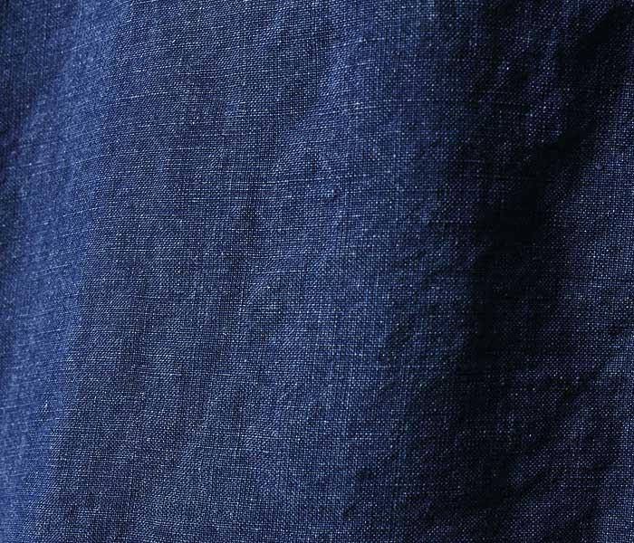 orSlow オアスロウ 日本製 インディゴ プルオーバーシャツ indigo linen PULLOVER SHIRT UNISEX (03-8044-01)