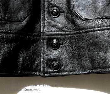 [送料無料]フェローズ/PHERROW'S(PHERROWS) 日本製 ''ホースハイド-ブラック''コサックレザージャケット(CSJ30-BLACK)