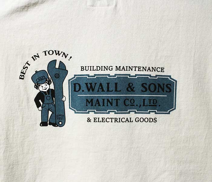 フェローズ/PHERROW'S(PHERROWS) D.WALL & SONS Tシャツ プリントT (18MS-PT21)