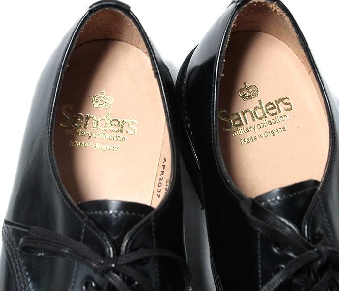 [送料無料]サンダース/SANDERS 英国製 ''ブラック'' ミリタリー ダービーシューズ キャップトゥシューズ(1128-BLACK)