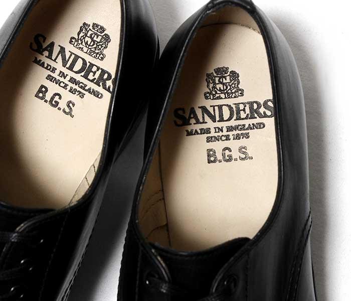 サンダース SANDERS B.G.S. COLLECTION パンチドキャップ レザーシューズ ダービーシューズ 1944 PUNCHED CAP DERBY SHOES MADE IN ENGLAND (1944-BLACK)